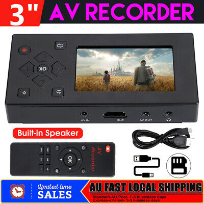 "3"" TFT Screen AV Recorder Audio Video Converter Capture Recording Player ABS HOT"