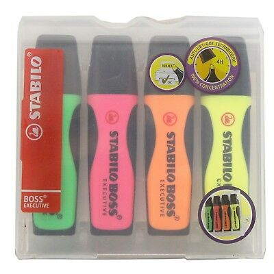 Stabilo Boss Highlighters Assorted Colours Pack of 4