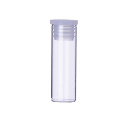Wheaton ST3812 Specimen Vial with Stopper, Glass/Polyethylene, 3 mL, 13 mm x 38