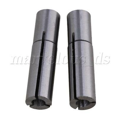 Silver 5x 6mm to 3.175mm Stainless Steel Engraving Bit CNC Router Tool Adapter
