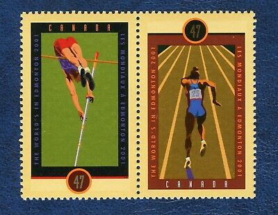 CANADA SC# 1908a IAAF WORLD CHAMPIONSHIPS SE-TENANT PAIR MNH VF STAMPS
