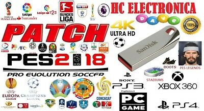 Option File Patch Parche Pes 2018 Ps4 Pc Ps3 100% Complete With Usb Free Updates