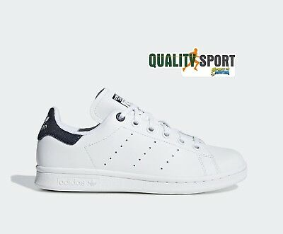 big sale 52ba5 a2de5 Adidas Stan Smith Bianco Blu Jeans Scarpe Shoes Sportive Sneakers EE6173  2019