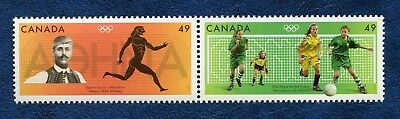 CANADA SC# 2050a, 2004 OLYMPIC SUMMER GAMES SE-TENANT PAIR MNH VF STAMPS