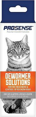 ProSense Liquid Dewormer treatment Solutions for Cats kittens 4-fl. oz brand new