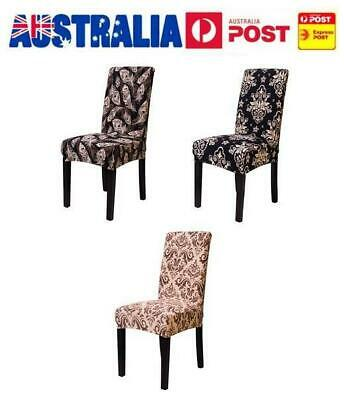 AU Stretch Dining Chair Cover Washable Banquet Removable Slipcover Seat Cover