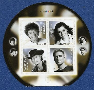 CANADA SC# 2334ii CANADIAN RECORDING ARTISTS BOOKLET PANE, VERY FINE STAMPS