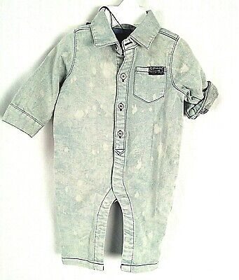 BOYS ROLL CUFF, SHORTALL, Age 0/3 Months, 7 For All Mankind Brand !