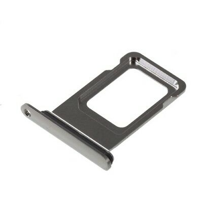 OEM Single Dual Nano SIM Card Tray Holder Cover for Apple iPhone XS Max Silver