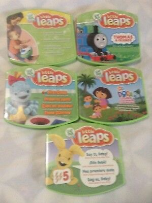 Lot of 5 leap frog baby little leaps , Thomas & friends,& More play & move