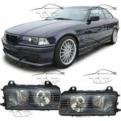 Headlights Dark For Bmw E36 94-99 Series 3 Cuope Saloon Cabrio New Lamps
