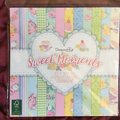 Sweet Moments 36 sheets Scrapbooking Cardmaking Dovecraft 8x8