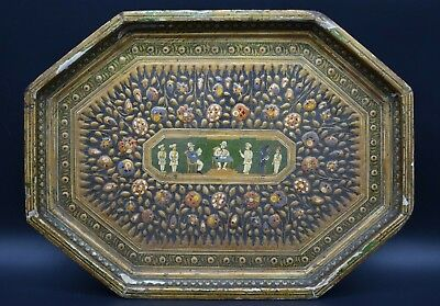 19th century Anglo-Indian polychrome tray