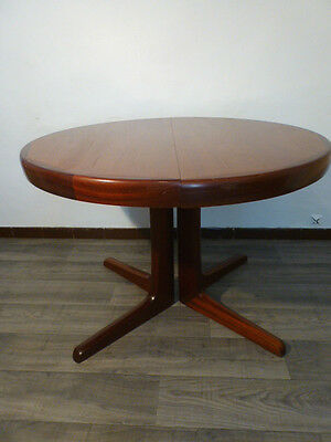 Table Scandinave Ronde Pied Central Vintage