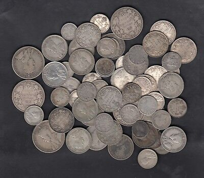1858-1936 Canada Silver Coins Lot Of 10 Oz