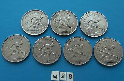 Luxembourg 1 Franc 1952, 1953, 1955, 1957, 1960, 1962, 1964