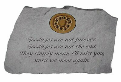 Goodbyes Are Not...W/Symbol Memorial Garden Stone