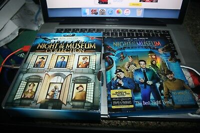 3 Blu Ray Lot Slip Cover Night At The Museum Collection