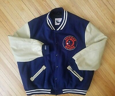 Mitchell And Ness Chicago Bears Letterman Jacket Throwback Size 5XL