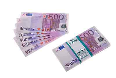 New €500 Euro Souvenir Banknotes 1 pack for Prank & Videos and Gift (80-90 pcs )