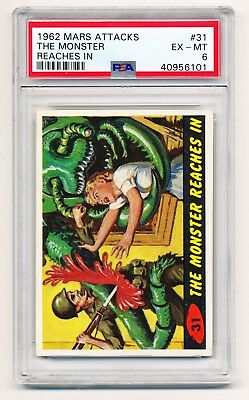 1962 Mars Attacks #31: The Monster Reaches In - PSA 6 - PERFECT CENTERING