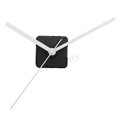 20mm Shaft Silent White Hands Quartz Clock Movement Mechanism Wall Repair DIY  !