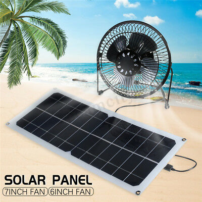 10W 12V Solar Panel 6/7'' Fan Flexible Panel Greenhouse Chick House Ventilator !