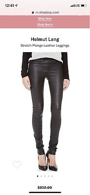 5396ab6a7eb07f NEW HELMUT LANG Lambskin Leather Leggings in Black - Size 8 ...