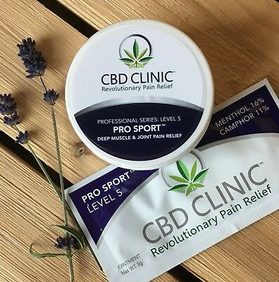 CBD Clinic Level 5 Pro Sport w/ FREE SAMPLE SIZE Deep Muscle & Joint Pain Relief