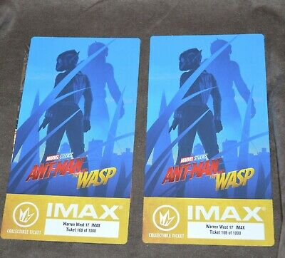 Marvel ANT-MAN AND THE WASP Regal IMAX Collectible Ticket x 2 FREE US SHIPPING