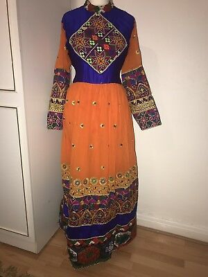 TRADITIONAL AFGHANI CLOTHES - Orange And Blue