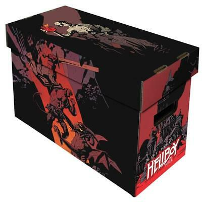 1 BCW Short Cardboard Comic Book Storage Box with Hellboy in Hell Art Design