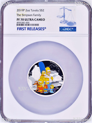 2019 The Simpson Family Proof $2 2oz Silver COIN NGC PF 70 FR