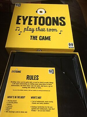 EYETOONS Musical Knowledge PLAY THAT TUNE Great Family Party Fun Game Ginger Fox