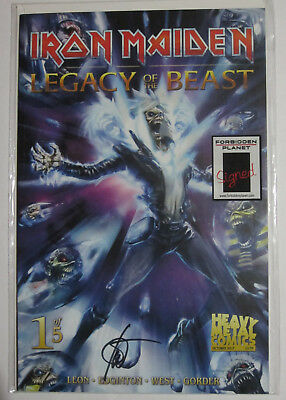 Iron Maiden Comic - Legacy Of The Beast #1 FP Variant - Signed by Ian Edgington