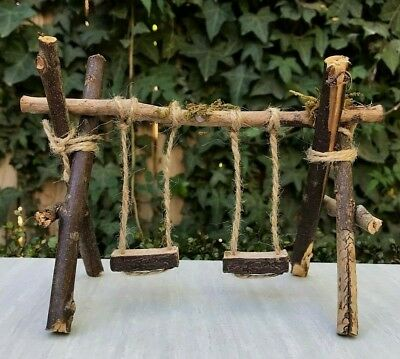 Excellent Miniature Dollhouse Fairy Garden Furniture Large Wood Twig Ibusinesslaw Wood Chair Design Ideas Ibusinesslaworg