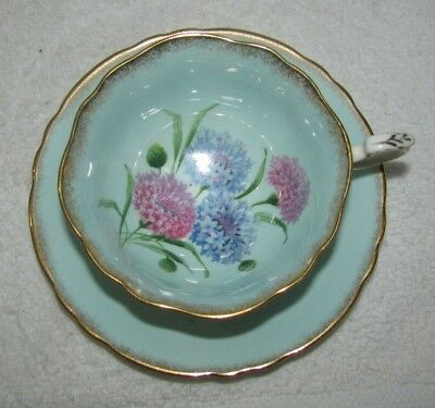 Paragon Cornflower Pattern Pale Blue Tea Cup and Saucer  Made In England