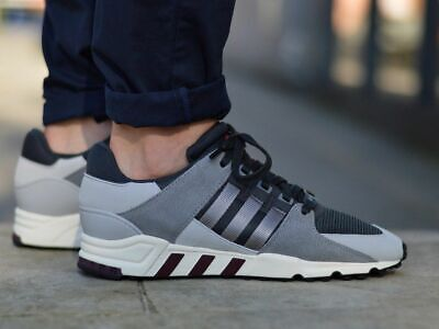 new concept ee19c aff25 ADIDAS EQT SUPPORT RF Trainers Sneakers GREYBLACK UK 7.5