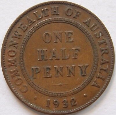 1932 Halfpenny.Very Fine(LotE8186184176)Free Postage