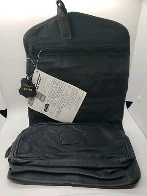 ee7c5df5b Canyon Outback Genuine Black Leather Hanging Toiletry makeup Bag NEW NWT