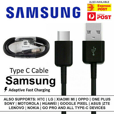 GENUINE Samsung Galaxy Note 9 S9 S8 S10 Plus Type C Charger Charging Fast Cable