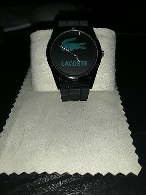 Lacoste Men's Silicone Watch 2010823 Analog Display Quartz - Black