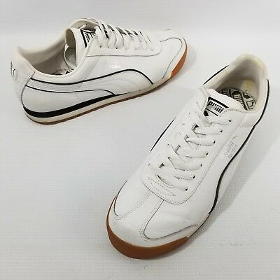cb64ce7cbb46 PUMA Roma Classic Leather Sneakers Athletic Shoes Men s Size 10.5 - 10 1 2  White