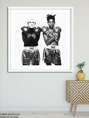 Poster Stampa Moderno Jean Michel Basquiat Andy Warhol Misure Varie Box Boxing