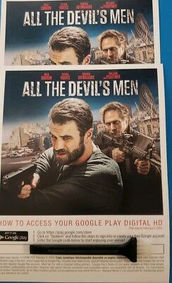All the devils men  Canadian Digital movie code only