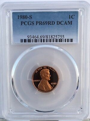 1980-S Lincoln Proof PCGS PR69RD DCAM  Shipping $$ on First Coin Only