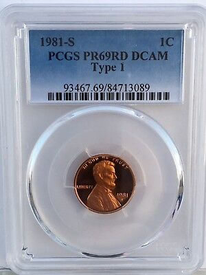 1981-S Lincoln T-1 Proof PCGS PR69RD DCAM  Shipping $$ on First Coin Only