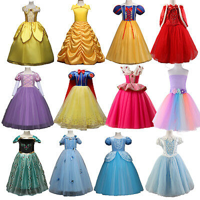 Frozen Vestito Carnevale Maschera Anna Girl Dress up Costume Cape caldo Italia A