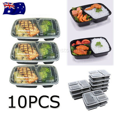 10X Meal Prep Plastic Food Storage Containers Freezer Microwavable Lunch Box AU