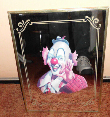 1960's VINTAGE CIRCUS CLOWN ARTHUR SARNOFF MIRROR POSTER STEPHEN KING IT BOZO